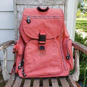 Kipling rolling backpack convertible pink